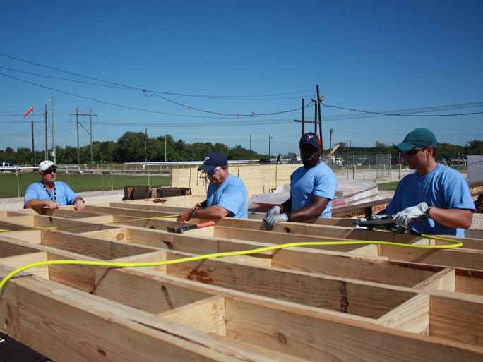 Ascend team members construct Habitat for Humanities homes in Chocolate Bayou, Decatur